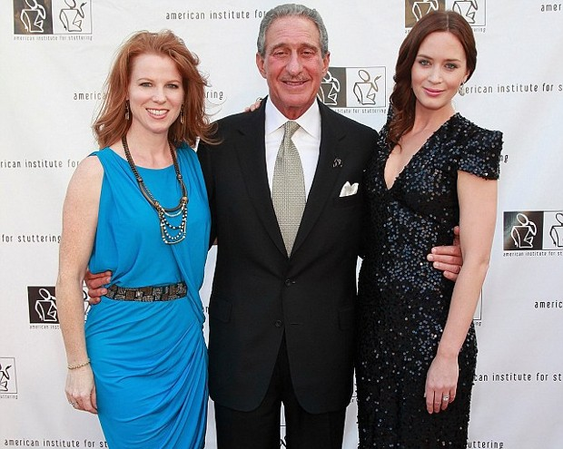 Arthur Blank and His Wife Stephanie Blank Pictured with actress Emily Blunt