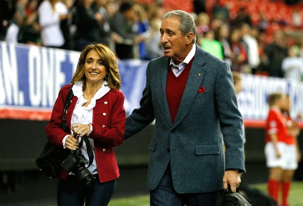 Arthur Blank With His Wife Angie Macuga
