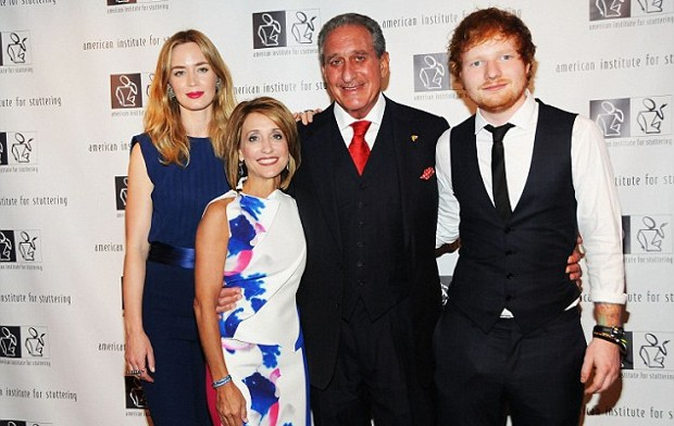 Arthur Blank With His Wife Angie Macuga and Emily Blunt