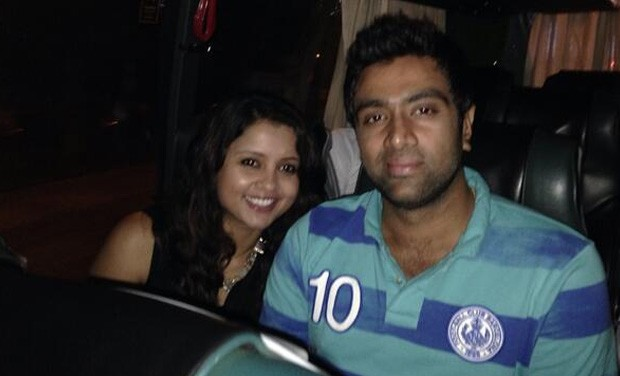 Ashwin with his wife Preethi
