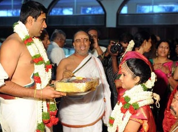Ashwin with his wife on wedding day