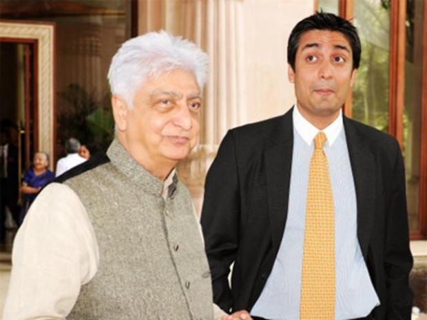 Rishad Premji with his father Azim Premji
