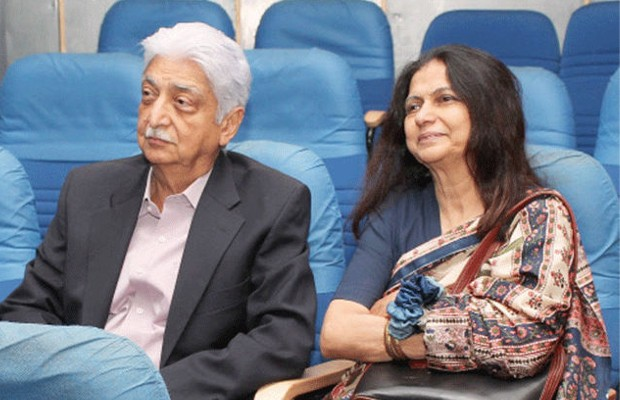 Azim Premji and his wife Yasmeen Premji