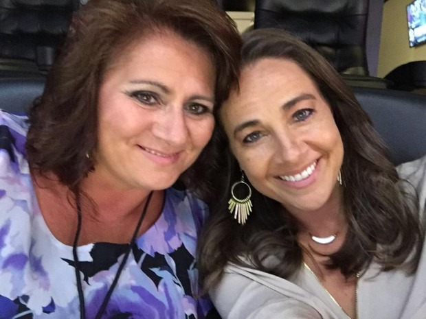 Becky Hammon and her mom Bev Hammon