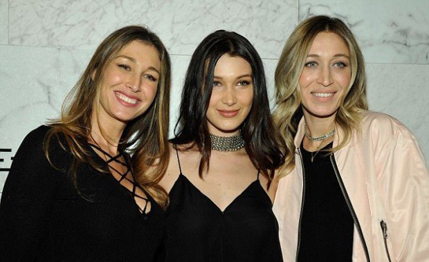 Bella with her older sisters Marielle and Alana Hadid