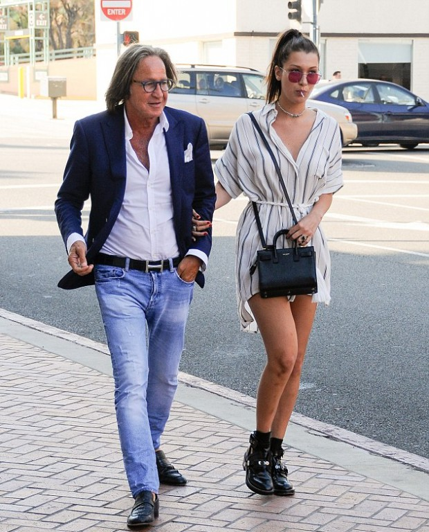 Bella Hadid with his father Mohammed Hadid in Los Angeles