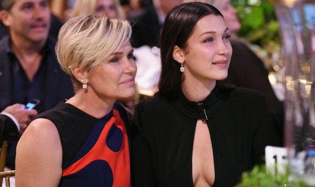 Bella Hadid and her mother Yolanda Foster