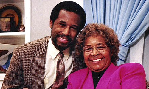 Ben Carson with his mom Sonya Carson