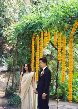 Ben and Divya on their wedding day