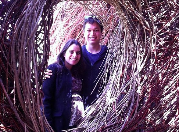 Ben with his wife Divya