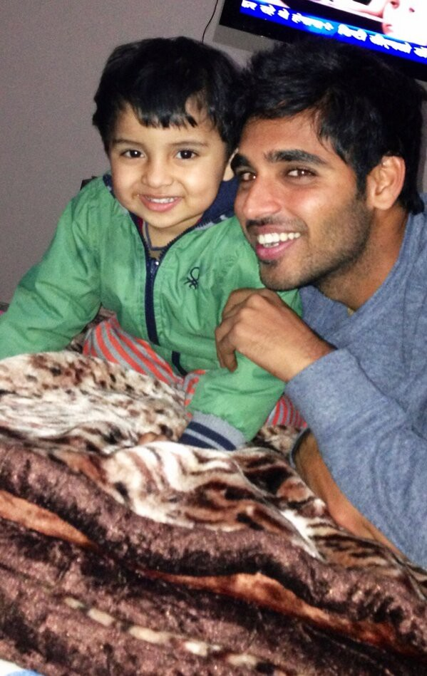 Bhuvi with his nephew