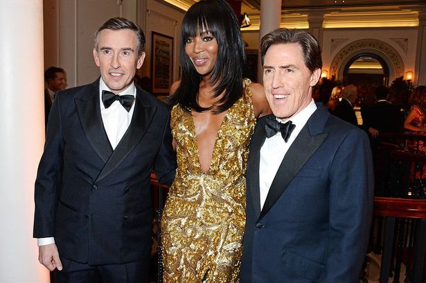 Richard' sister Naomi with Steve Coogan and Rob Brydon