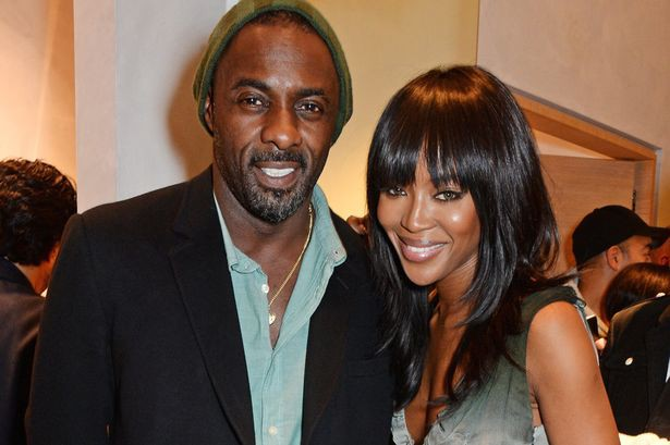 Naomi Campbell with Idris Elba