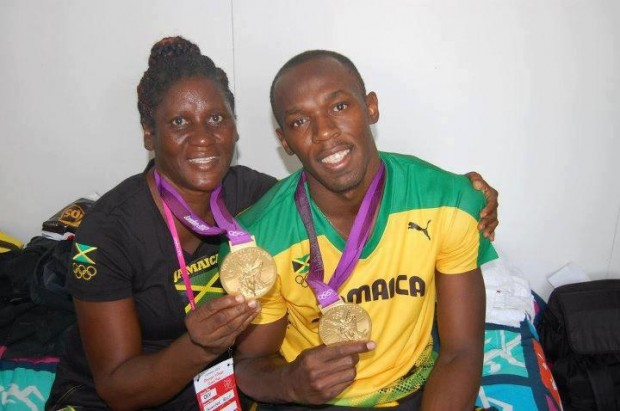 Usain Bolt & his mom Jennifer