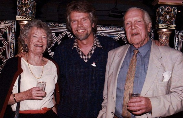 Richard Branson with his Parents