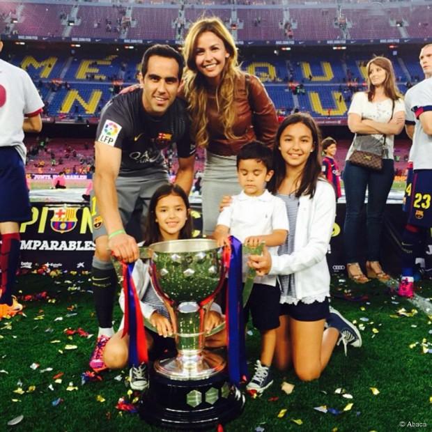 Claudio Bravo with his family