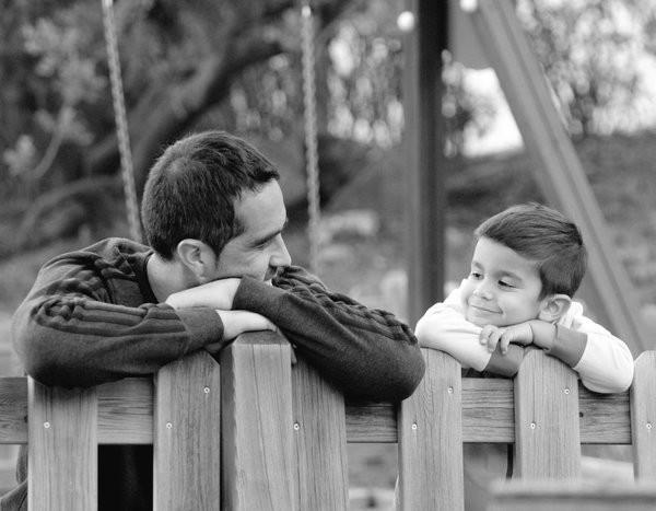 Claudio Bravo with his son Mateo Bravo Pardo