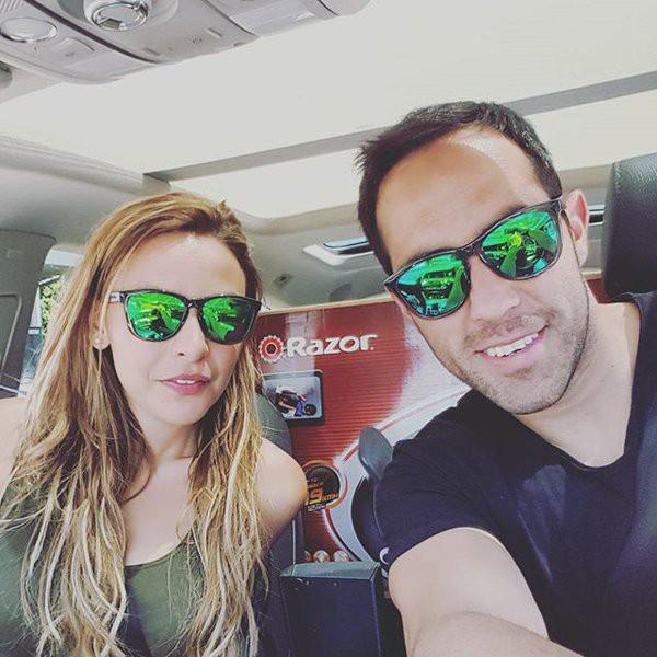 Claudio Bravo and his wife Carla Pardo