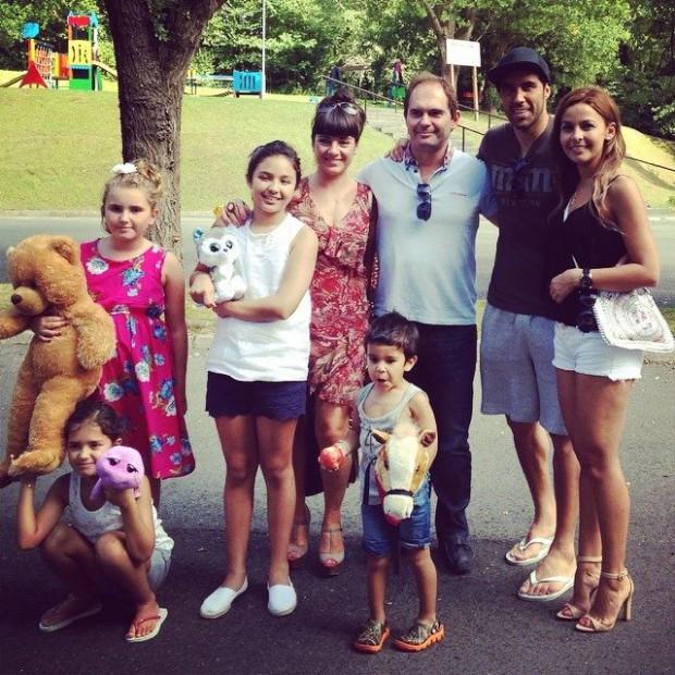 Claudio Bravo and his family