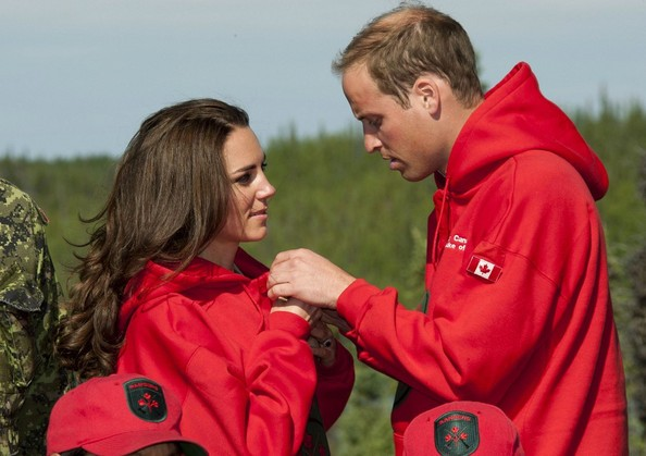 Prince Williams and Kate Middleton at a Canadian Rangers Station