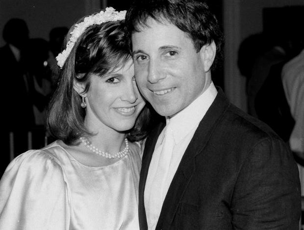Carrie Fisher with her former husband Paul Simon