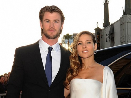 Chris Hemsworth and Elsa Pataky on their  Wedding day