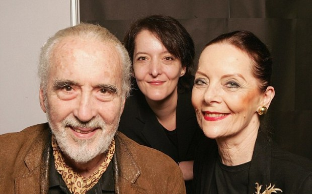 Christopher Lee and his wife with their daughter Christina Erika Lee