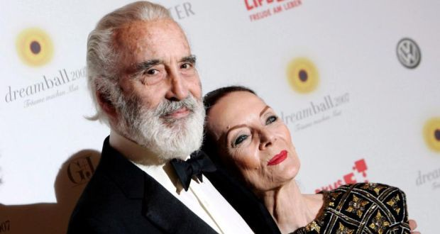 Christopher Lee and his wife Birgit Kroencke