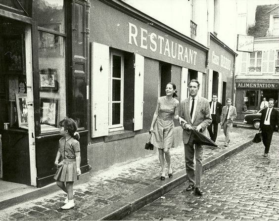 Christopher Lee with his family in Paris