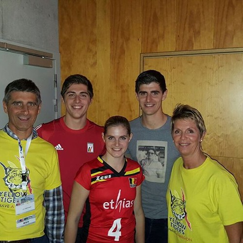 Thibaut Courtois with his family