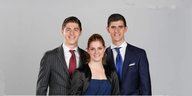 Thibaut Courtois with his siblings