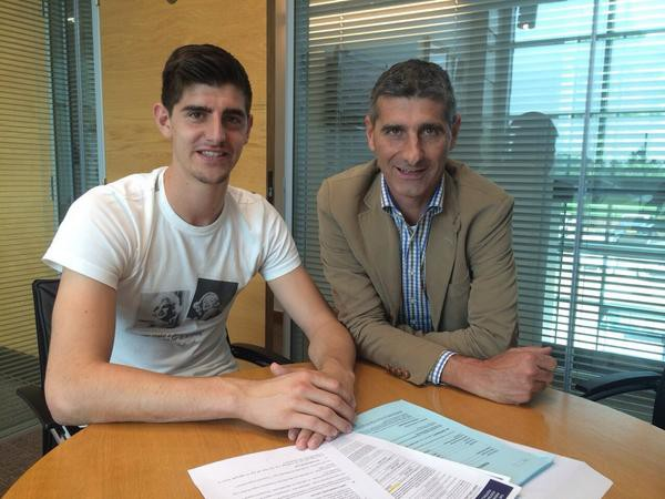 Thibaut Courtois with his father Thierry Courtois