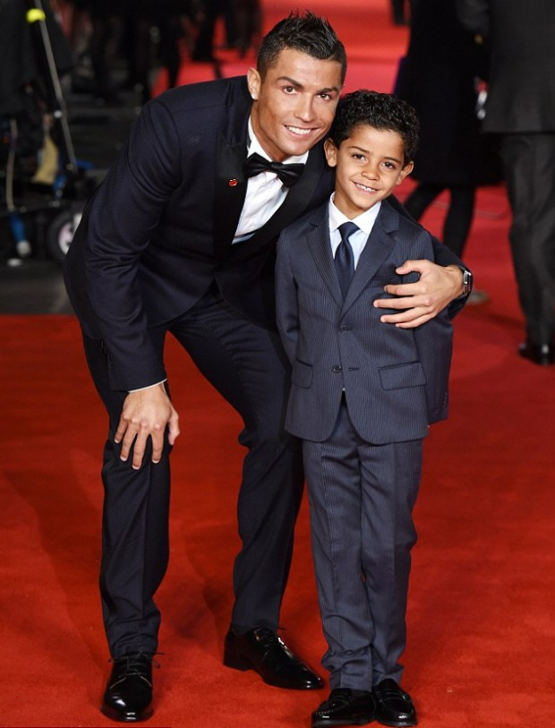 CR7 and his son at World Premier of 'Ronaldo'