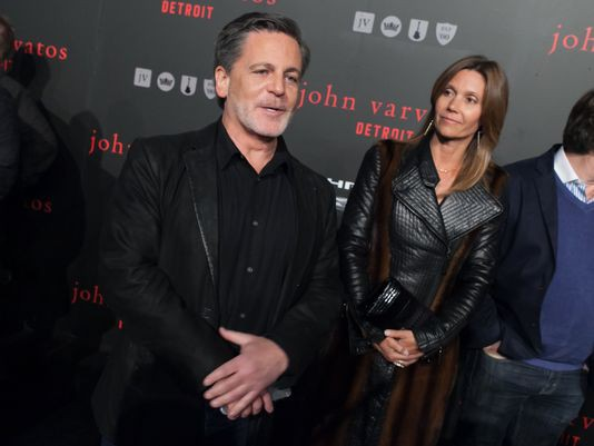 Dan Gilbert and Jennifer Gilbert at John Varvatos event