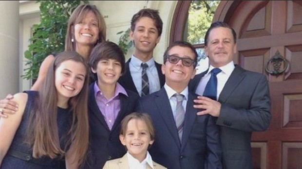 Dan Gilbert with his family