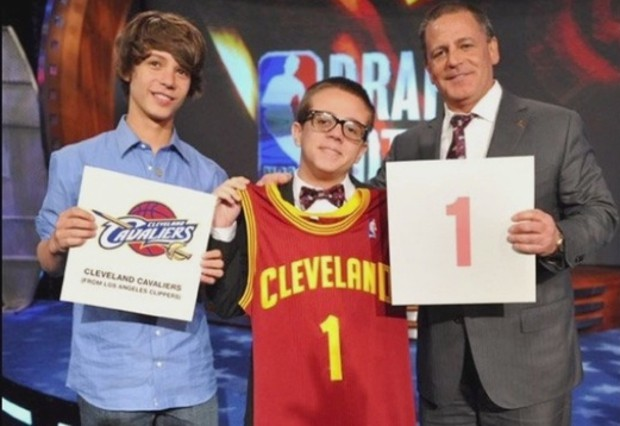 Dan Gilbert with his son Nick