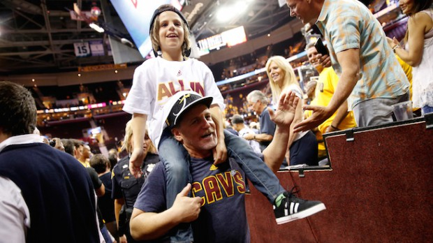 Dan Gilbert with his son