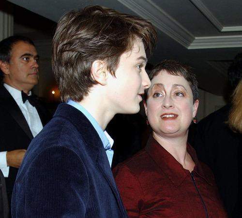 Daniel Radcliffe and his mom Marcia Gresham