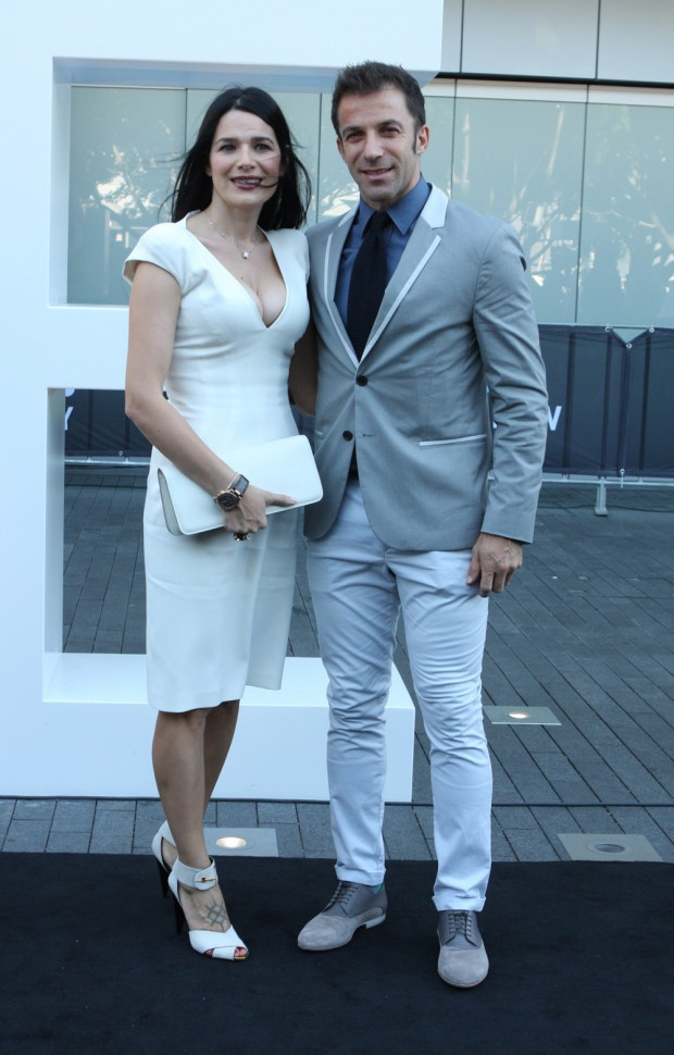 Alessandro Del Piero with his wife Sonia Amoruso