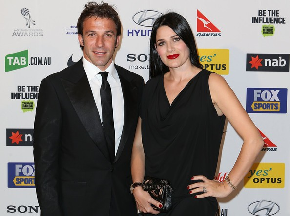 Del Piero and his wife Sonia Amoruso at an event
