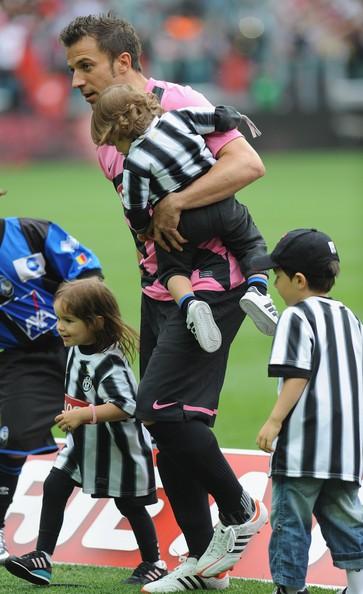 Alessandro Del Piero with his three children Tobias, Sasha and Dorotea