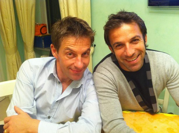 Del Piero with his brother Stefano Del Piero