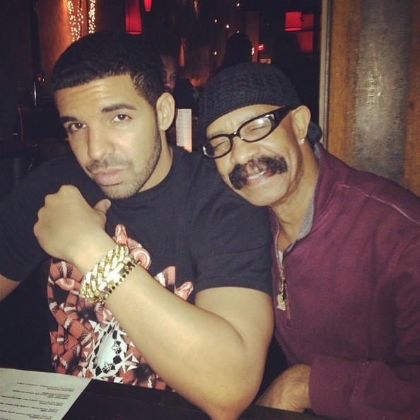 Drake with his father Dennis Graham