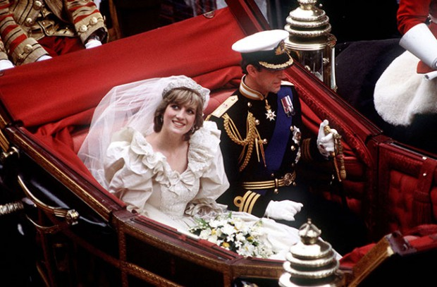 On the wedding day of Prince Charles and Princess Diana