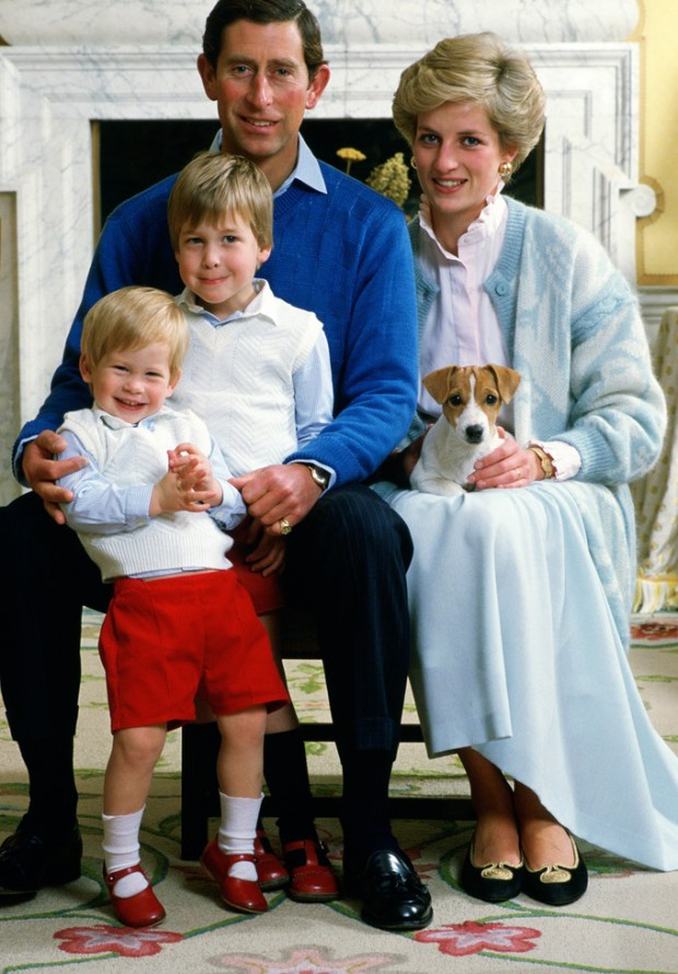 Prince Charles and Princess Diana with their sons Prince William and Prince Harry