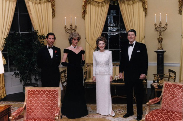 Prince Charles and Princess Diana with then US President Ronald Reagan and his wife Nancy Reagan