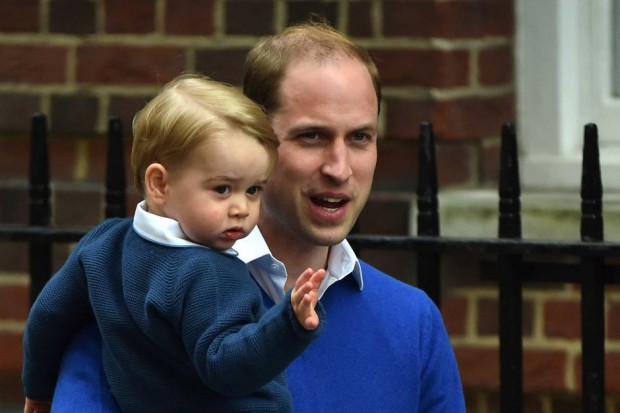 Diana's son Prince William and her grand son Prince George