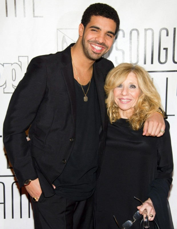 Drake with his mom Sandi
