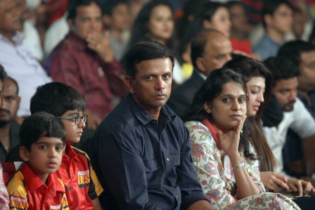 Rahul Dravid with wife Vijetha and Sons Samit and Anvay