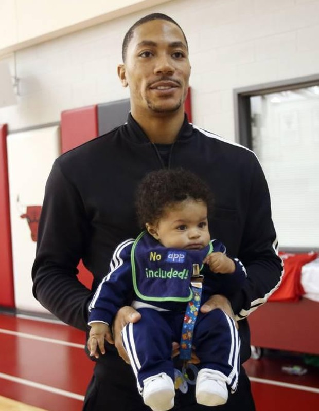 Derrick Rose with Son PJ